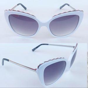 FGX International | White Big Square Sunglasses